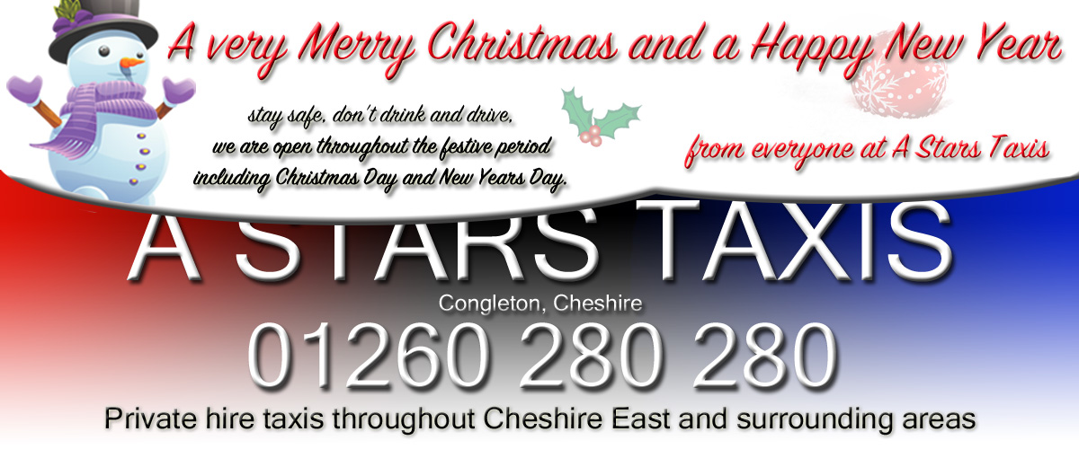 Congleton taxi hire, airport transfers, corporate and private hire